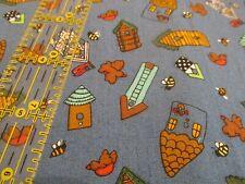 MODA Cynthia Young Flag Patriotic Summer Birdhouse Bumble Bee cotton fabric BTHY