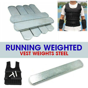 8pcs Steel Plates Weights For Weighted Vest Workout Jacket Running Training UK
