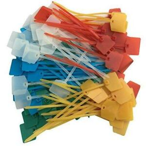 Huouo 100 Pcs 5 Colors Nylon Cable Marker Ties Self-Locking Cord Tags 5 inches