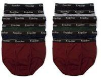 3 6 12 pks Mens Classic Briefs 100% Cotton Whites Colors Knocker Lots Underwear