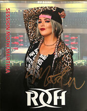 More details for official roh ring of honor - session moth martina 8x10 *hand signed*