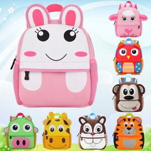 Toddler Kids Cartoon Animal Backpack Baby Children Boy Girl School Bag Rucksack#