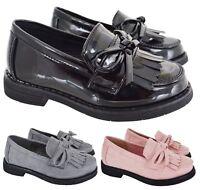 KIDS GIRLS INFANT FLAT TASSEL LOAFER SLIP ON PATIENT CASUAL SCHOOL SHOES SZ 8-2