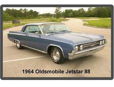 1964 Oldsmobile Jetstar 88 Blue Car Auto Refrigerator / Tool Box Magnet