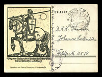 Germany Postcard German 3rd Reich WW2 Teutonic Knight Defender Feldpost 1942