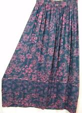 Sk234~Tienda Ho~GRAY~Double Hem~EMBROIDERED~Rayon~ETHERAL~A-line Skirt~OS XL?