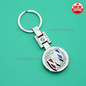 3D Buick Sport Crystal Diamond Alloy Car Home Lady Keychain Ring Decoration Gift
