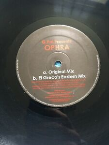 """G.PAL Presents OPHRA - 2003 Greak 2-track 12"""" Vinyl Single. Very Good Condition"""