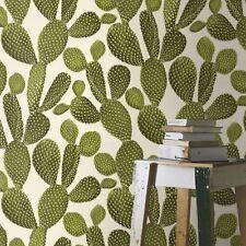 Kaktus TAPETE Grün/creme - Rasch 441000 NEU
