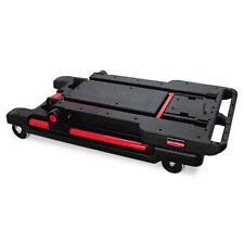 Rubbermaid Convertible Utility Cart Two Shelf Black 430000bk New