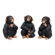3 Contemplating Wise Monkeys Animal Garden Monkey Ornament Set