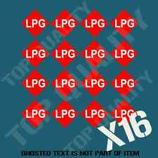LPG GAS NUMBERPLATE STICKER DECAL X16 GARAGE WORKSHOP CAR TRUCK CARAVAN CAMPER