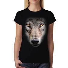 Wolf Face Women T-shirt S-3XL New