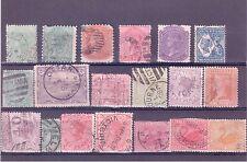 Australian States Victoria, Tasmania, SA & WA set of 19 Used Stamps 1875-1910