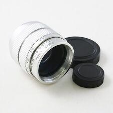 "35mm f/1.7 2/3"" C Mount CCTV Objektiv körper für Micro 4/3 Sony NEX FX PQ silber"
