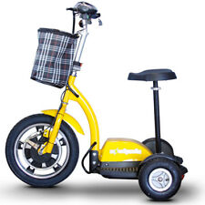 eWheels EW-18 Electric 3-Wheel Mobility Scooter - Sit or Stand - 350W - Yellow,