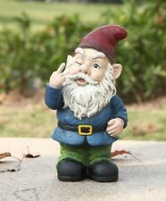 Gnome Winking with Hand Gesture Figurine - Home / Garden Decor New In/outdoor