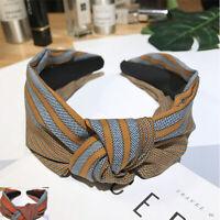 Headband Tie Women's Hair Twist Hoop Hairband Fabric Band Wide Knot Accessories