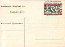 SUISSE - CAMP MILITAIRE D'INTERNEMENT DE TOBEL EN SUISSE -1940 - CARTE NEUVE.