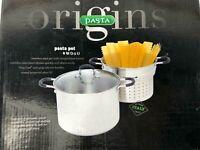 Origins Italian Nudeltopf Pastatopf Spargeltopf Spaghetti Topf Kochtopf 7,5L A