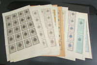 Salvador Scarce Stamp Group of 14 Full Revenue Sheets 1904