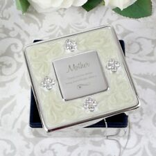 Personalised Swirls & Hearts Square Diamante Trinket Box Gifts For Women Wife