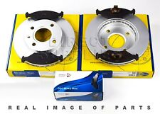 FRONT AXLE BRAKE SET DISCS & PADS FOR FIESTA COURIER PUMA 89-03 ADB0444 ADC0440V