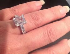 Size 10 Cz Set In Rhodium By Blue Luster