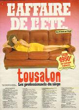 Publicité 1982 TOUSALON meubles salons salle à manger