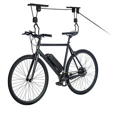 Easy Lift Bike Hoist Single Bicycle Storage Pulley Hanger System Ceiling Mount