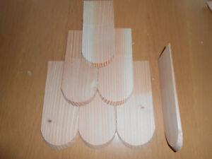 100 Holzschindel Douglasie Dachschindeln Holzschindel 8x20 cm Schindeln Schindel