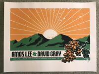 2015 Amos Lee David Gray Saratoga Concert Show Mondo Art Print Poster Lil Tuffy