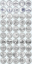 COMPLETE US 100 STATES QUARTER DOLLAR P + D MINTS COINS YEAR SETS 1999-2008