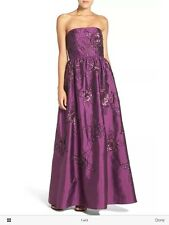 ADRIANNA PAPELL STRAPLESS EMBELLISHED TAFFETA BALL GOWN DRESS 16,12,8