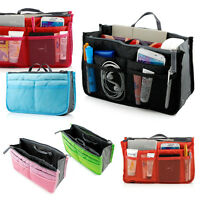13 Pocket Bag in Bag Travel Insert Handbag Tote Makeup Organizer Purse Pouch