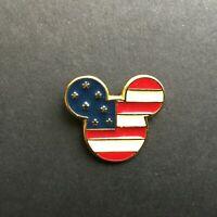 DS - USA Mickey Head Flag Icon Disney Pin 7949
