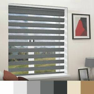 Day&Night Zebra/Vision Window Roller Blinds Home Office Curtains Blind 180cm