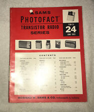 Sams Photofact Transistor Radio Series Volume 24 (1963)