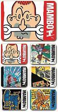 Mambo 'Life' Cork Backed Coasters - Set of 6 *NEW*