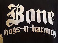 Vintage Bone Thugs N Harmony Tour Shirt Sz XL Hip Hop Gangster Rap Soul R&B Weed