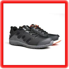 MENS  BLACK ULTRA LIGHTWEIGHT STEEL TOE CAP SAFETY TRAINER SHOES WORK SIZE UK 11