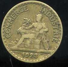50 centimes   chambre de commerce 1923   ( VARIETE   Le  2 FERMEES  )