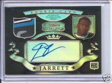 dwayne jarrett rookie auto jersey logo patch panthers #