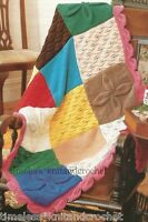 KNITTING PATTERN FOR PATCHWORK BEDSPREAD & SMALL BLANKET / THROW FROM SQUARES