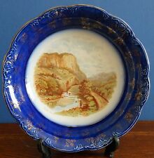 Edwardian / Art Nouveau Woods & Sons Trent Bowl with fishing scene [imperfect]