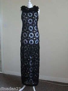 Monsoon knitted mohair dress, size 10, maxi, black, brand new