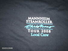 Mannheim Steamroller Christmas Tour 2008 Local Crew Black  T-Shirt size M