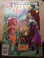 New Teen Titans #23 NEWSSTAND VF/NM 1982 1st full Blackfire & 1st Adrian Chase!