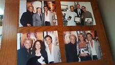 Lot of 4 assorted Las Vegas magicians Siegfried & Roy w/celebrities 8x10 photos