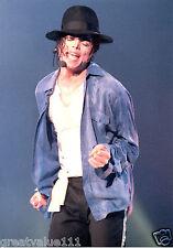 MICHAEL JACKSON PHOTO UNRELEASED 12 INCH X 8 INCHES HUGE COLOUR 1996 UNIQUE GEM